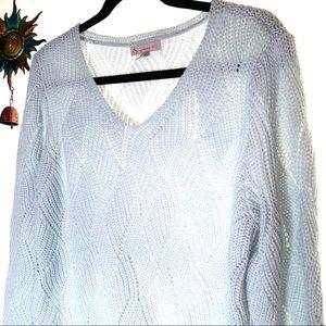 DB Dress Barn blue knit sweater size Medium